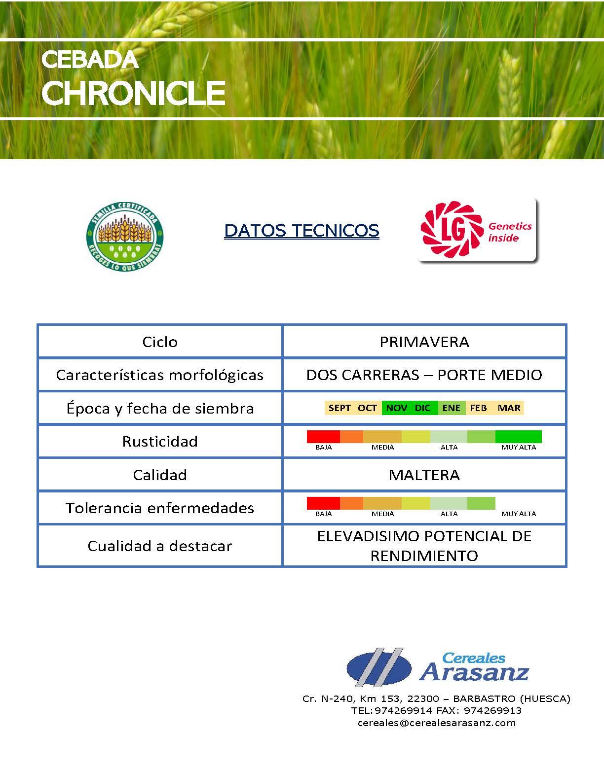 Cebada Chronicle